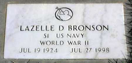 BRONSON (WWII), LAZELLE D. - Wasatch County, Utah | LAZELLE D. BRONSON (WWII) - Utah Gravestone Photos