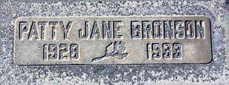BRONSON, PATTY JANE - Wasatch County, Utah | PATTY JANE BRONSON - Utah Gravestone Photos