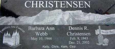 CHRISTENSEN, BARBARA ANN - Wasatch County, Utah | BARBARA ANN CHRISTENSEN - Utah Gravestone Photos