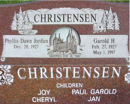 CHRISTENSEN, GAROLD HYRUM - Wasatch County, Utah | GAROLD HYRUM CHRISTENSEN - Utah Gravestone Photos