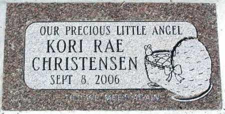 CHRISTENSEN, KORI RAE - Wasatch County, Utah | KORI RAE CHRISTENSEN - Utah Gravestone Photos