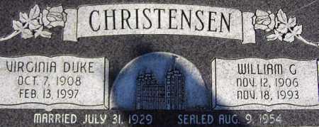 CHRISTENSEN, VIRGINIA - Wasatch County, Utah | VIRGINIA CHRISTENSEN - Utah Gravestone Photos