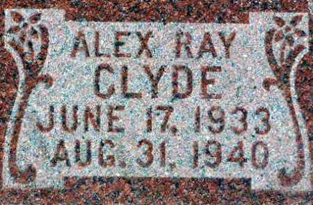 CLYDE, ALEX RAY - Wasatch County, Utah | ALEX RAY CLYDE - Utah Gravestone Photos
