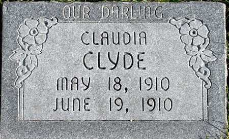 CLYDE, CLAUDIA - Wasatch County, Utah | CLAUDIA CLYDE - Utah Gravestone Photos