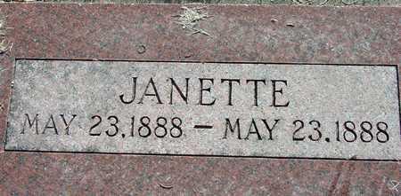 CLYDE, JANETTE - Wasatch County, Utah | JANETTE CLYDE - Utah Gravestone Photos