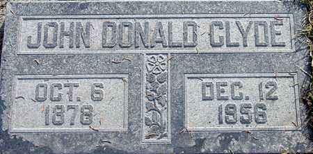CLYDE, JOHN DONALD - Wasatch County, Utah   JOHN DONALD CLYDE - Utah Gravestone Photos
