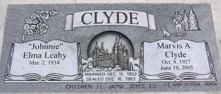 LEAHY CLYDE, ELMA - Wasatch County, Utah | ELMA LEAHY CLYDE - Utah Gravestone Photos