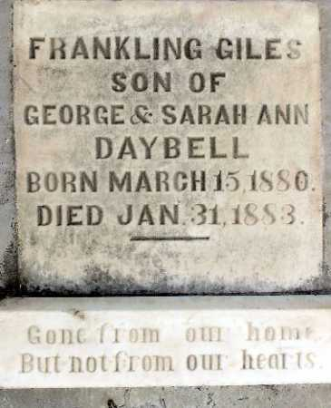 DAYBELL, FRANKLING GILES - Wasatch County, Utah | FRANKLING GILES DAYBELL - Utah Gravestone Photos