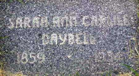 DAYBELL, SARAH ANN - Wasatch County, Utah   SARAH ANN DAYBELL - Utah Gravestone Photos