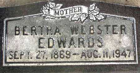 WEBSTER EDWARDS, BERTHA - Wasatch County, Utah | BERTHA WEBSTER EDWARDS - Utah Gravestone Photos
