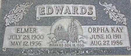 EDWARDS, ELMER - Wasatch County, Utah | ELMER EDWARDS - Utah Gravestone Photos