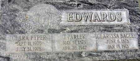 EDWARDS, CLARA - Wasatch County, Utah | CLARA EDWARDS - Utah Gravestone Photos