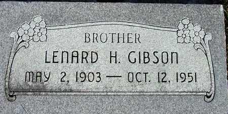 GIBSON, LENARD HOWARD - Wasatch County, Utah | LENARD HOWARD GIBSON - Utah Gravestone Photos