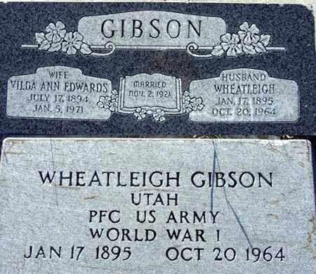 GIBSON, VILDA ANN - Wasatch County, Utah | VILDA ANN GIBSON - Utah Gravestone Photos