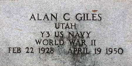 GILES, ALAN C - Wasatch County, Utah | ALAN C GILES - Utah Gravestone Photos