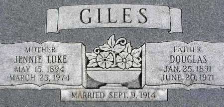 LUKE GILES, JENNIE MYRTLE - Wasatch County, Utah | JENNIE MYRTLE LUKE GILES - Utah Gravestone Photos