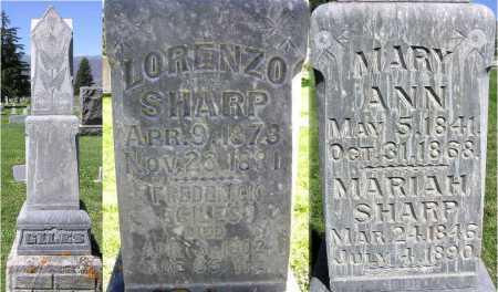 GILES, LORENZO SHARP - Wasatch County, Utah | LORENZO SHARP GILES - Utah Gravestone Photos