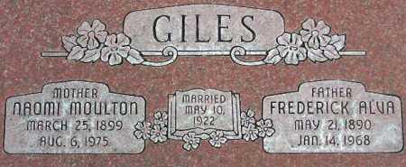 GILES, FREDERICK ALVA - Wasatch County, Utah   FREDERICK ALVA GILES - Utah Gravestone Photos