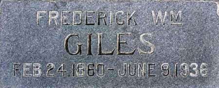 GILES, FREDERICK WILLIAM - Wasatch County, Utah | FREDERICK WILLIAM GILES - Utah Gravestone Photos