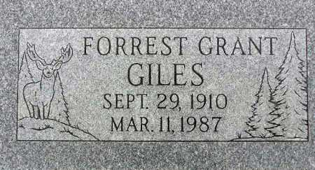 GILES, FORREST GRANT - Wasatch County, Utah | FORREST GRANT GILES - Utah Gravestone Photos