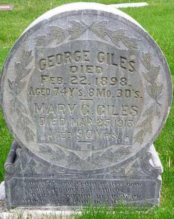 GILES, GEORGE FRANCIS - Wasatch County, Utah | GEORGE FRANCIS GILES - Utah Gravestone Photos