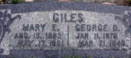 GILES, MARY ELIZABETH - Wasatch County, Utah | MARY ELIZABETH GILES - Utah Gravestone Photos