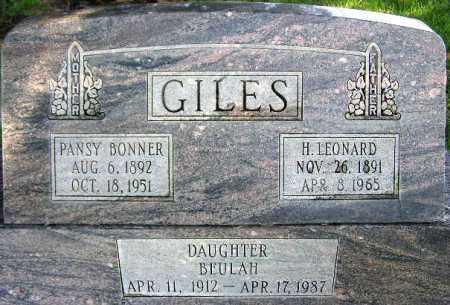 GILES, HENRY LEONARD - Wasatch County, Utah | HENRY LEONARD GILES - Utah Gravestone Photos