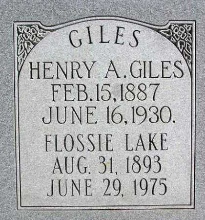 GILES, FLOSSIE - Wasatch County, Utah | FLOSSIE GILES - Utah Gravestone Photos