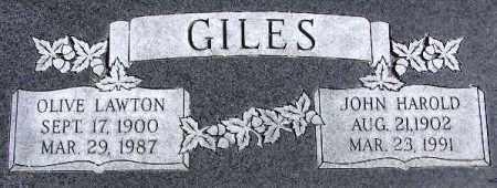 GILES, JOHN HAROLD - Wasatch County, Utah   JOHN HAROLD GILES - Utah Gravestone Photos