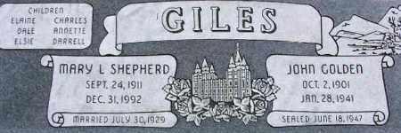 GILES, MARY LOUISA - Wasatch County, Utah   MARY LOUISA GILES - Utah Gravestone Photos