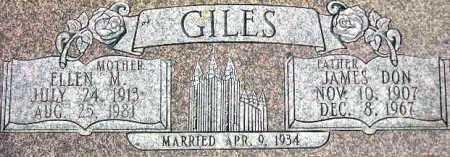 MANNING GILES, ELLEN FLORA - Wasatch County, Utah | ELLEN FLORA MANNING GILES - Utah Gravestone Photos