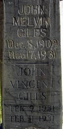 GILES, JOHN VINCENT - Wasatch County, Utah | JOHN VINCENT GILES - Utah Gravestone Photos