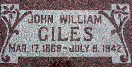 GILES, JOHN WILLIAM - Wasatch County, Utah | JOHN WILLIAM GILES - Utah Gravestone Photos