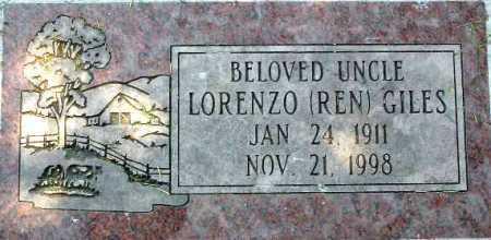 GILES, LORENZO (REN) - Wasatch County, Utah | LORENZO (REN) GILES - Utah Gravestone Photos