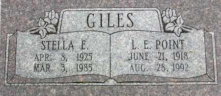 RISINGER GILES, STELLA EARLINE - Wasatch County, Utah | STELLA EARLINE RISINGER GILES - Utah Gravestone Photos