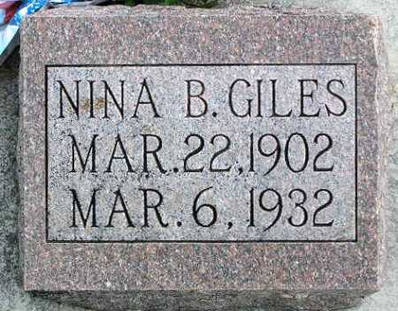 GILES, NINA ELDORIS - Wasatch County, Utah   NINA ELDORIS GILES - Utah Gravestone Photos