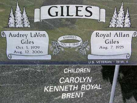 GILES, AUDREY LAVON - Wasatch County, Utah   AUDREY LAVON GILES - Utah Gravestone Photos
