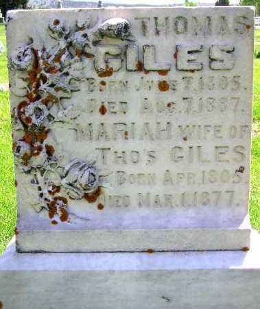 GILES, THOMAS - Wasatch County, Utah | THOMAS GILES - Utah Gravestone Photos