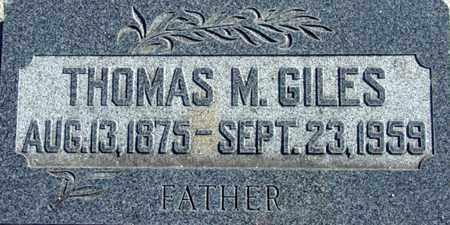 GILES, THOMAS MOORE - Wasatch County, Utah | THOMAS MOORE GILES - Utah Gravestone Photos