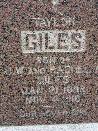 GILES, TAYLOR - Wasatch County, Utah | TAYLOR GILES - Utah Gravestone Photos