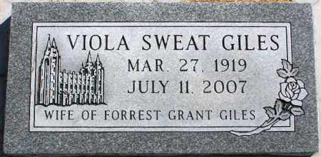 GILES, VIOLA - Wasatch County, Utah   VIOLA GILES - Utah Gravestone Photos