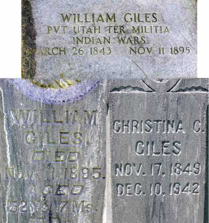 GILES, CHRISTINA - Wasatch County, Utah | CHRISTINA GILES - Utah Gravestone Photos