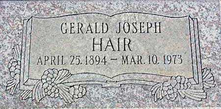 HAIR, GERALD JOSEPH - Wasatch County, Utah | GERALD JOSEPH HAIR - Utah Gravestone Photos