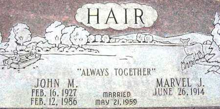 HAIR, MARVEL JUNE - Wasatch County, Utah | MARVEL JUNE HAIR - Utah Gravestone Photos