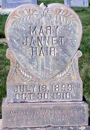 HAIR, MARY JANNET - Wasatch County, Utah | MARY JANNET HAIR - Utah Gravestone Photos