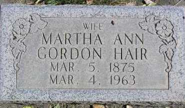 HAIR, MARTHA ANN - Wasatch County, Utah | MARTHA ANN HAIR - Utah Gravestone Photos