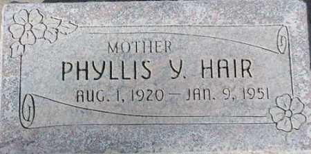 HAIR, PHYLLIS - Wasatch County, Utah   PHYLLIS HAIR - Utah Gravestone Photos