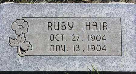 HAIR, RUBY - Wasatch County, Utah   RUBY HAIR - Utah Gravestone Photos