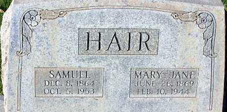 HAIR, MARY JANE - Wasatch County, Utah | MARY JANE HAIR - Utah Gravestone Photos