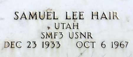 HAIR, SAMUEL LEE - Wasatch County, Utah   SAMUEL LEE HAIR - Utah Gravestone Photos